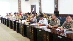 Suasana Rapat koordinasi Persiapan Keberangkatan Jamaah Haji Kloter 61 dan 65 JKG Kabupaten Tulang Bawang.