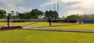 Suasana saat Upacara Hari Pahlawan berlangsung di Halaman Markas Kosekhanudnas IV