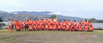 Foto bersama Peserta Pelatihan Teknik Penyelamatan pada Permukaan Air, usay upacara penutupan kegiatan pelatihan, (df ; DaniEl).